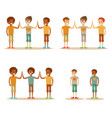 kids high five vector image vector image