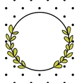 Laurel wreath decorative photo frame with dots vector image vector image