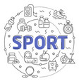 line flat circle sport vector image vector image