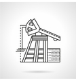 Line icon for oil pump vector image vector image