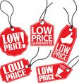 Low price tag set vector image vector image