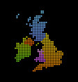 map of united kingdom and ireland vector image vector image