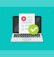 medical prescription digital document or online vector image vector image