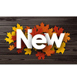 New background with maple leaves vector image