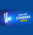 online cinema poster concept background movie vector image vector image