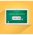 Online education concept laptop design vector image
