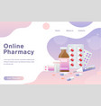 online pharmacy concept vector image