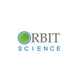 orbit science technology logo vector image