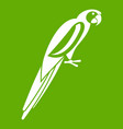 parrot icon green vector image