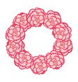 pink begonia flower picotee first love wreath vector image vector image