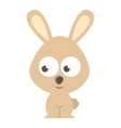 rabbit character isolated icon design vector image