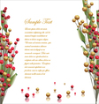Red and gold berries background vector image vector image
