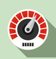 red white speedometer icon flat style vector image vector image