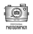 Retro vintage logotype of old camera vector image vector image
