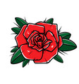 rose flower in tattoo style isolated on white vector image