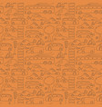 seamless drawn transport pattern vector image vector image