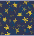 seamless star background vector image