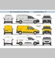 set cargo mini vans lwb l2 2018 vector image vector image