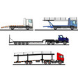 set different auto transporters isolated vector image vector image