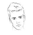 Sketch portrait of a man vector | Price: 1 Credit (USD $1)