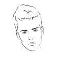 Sketch Portrait of a man vector image vector image
