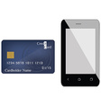 Smartphone and credit card vector image vector image