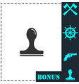 stamp icon flat vector image vector image