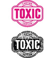 Stamp Toxic vector image vector image