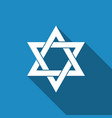 star of david icon isolated with long shadow vector image vector image