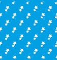 stars pattern seamless blue vector image