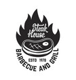 steak house cutted meat and crossed meat cleavers vector image vector image