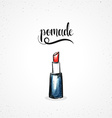 Stylish colored hipster fashion lipstick handmade vector image vector image