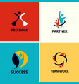 success people logos vector image vector image