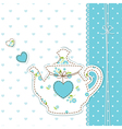 Teapot background 2 vector image