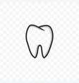 tooth medical dentist icon on transparent vector image