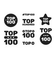 top hundred 100 black and white icon set vector image vector image