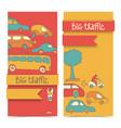transportation doodle banner set vector image vector image