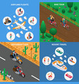 traveling people isometric concept vector image