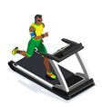 Treadmill Fitness Class Working Out 3D Flat Image vector image vector image