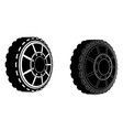 two car wheels vector image vector image