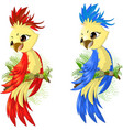 two options parrot vector image vector image