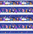 year party people seamless pattern vector image