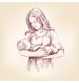 Madonna Mary holding Baby Jesus llustration vector image