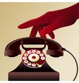 Retro telephon vector image