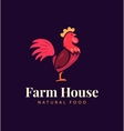 Hand drawn hen logo for home business with vector image