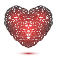 Heart isolated on white vector image