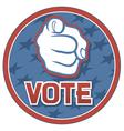 vote USA badge vector image