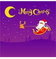 022 Merry Christmas santa and night background 002 vector image