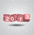 2013 New Year Digits vector image vector image