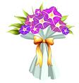 A boquet of violet flowers vector image vector image